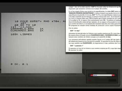 SPECTRU +3 - | Programas Manual Usuario 2/3 | - 1987. Amstrad Plc