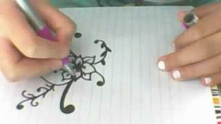 How to draw a easy, simple and cute flower!