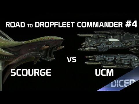 Die vier Admiräle | Spielbericht: Scourge vs UCM | Road to Dropfleet Commander #4 | DICED