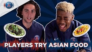 PARIS SAINT-GERMAIN PLAYERS TRY ASIAN FOOD