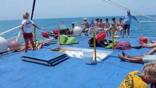 Paseo en barco caribe