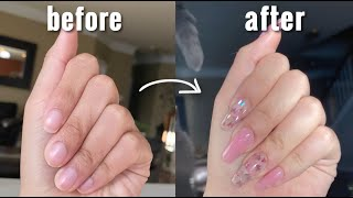 how I do my nails at home   polygel nails