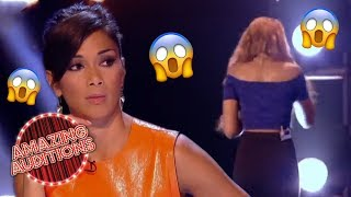 Contestant WALKS OFF Stage After She FORGETS The Lyrics | Amazing Audition