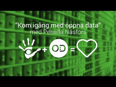 SiteVision presenterar: Kom igång med öppna data - Pernilla Näsfors