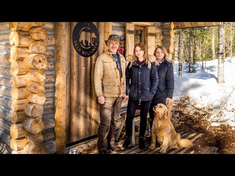 Wife & Daughter Making Maple Syrup | Off Grid Log Cabin Life