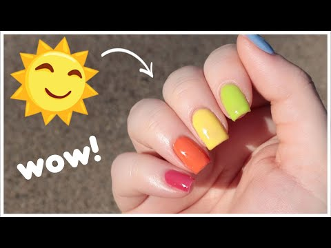 WOW! Trying Out Gel Polishes That Cure In The Sunlight ☀️ [Bio Seaweed Gel SolarCure]
