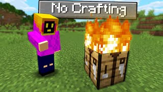 Can You Beat Minecraft Without A Crafting Table?