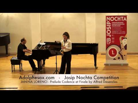 JOSIP NOCHTA COMPETITION JANINA LORENCI Prelude Cadence et Finale by Alfred Desenclos