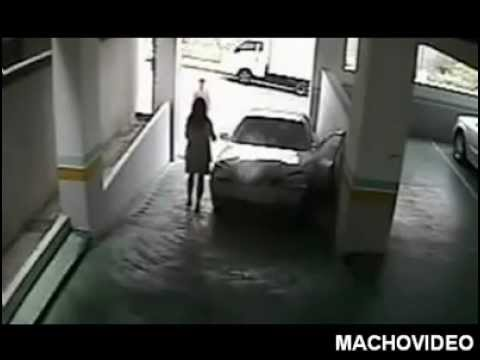 Female driver fails hard