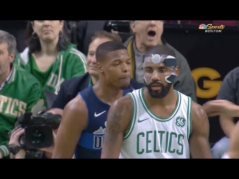 Mavs' Rookie Dennis Smith Jr. Gets Into It with Celtics' Kyrie Irving