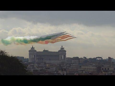 SORVOLO FRECCE TRICOLORI - ROMA 4 NOVEMBRE 2016