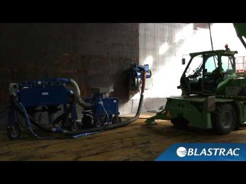 Vertical Steel Cleaning | Blastrac 900VMB Vertical Steel Blaster