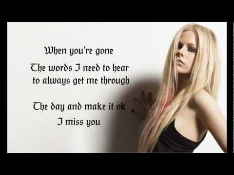 Avril Lavigne - When You're Gone Lyric Video (1080p HD)