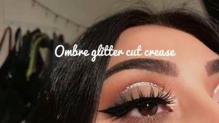 OMBRÉ GLITTER CUT CREASE