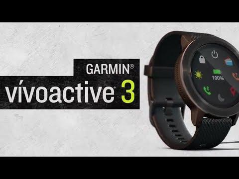 Garmin vívoactive® 3 - GPS-Smartwatch mit integrierten Sportapps