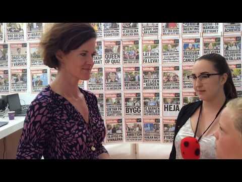 Knattereporter Filip intervjuar Anna Kinberg Batra (M) i Almedalen 2017