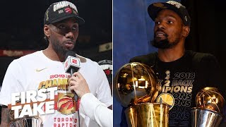 The Raptors' title is tarnished, just like KD's rings with the Warriors - Max Kellerman | First Take