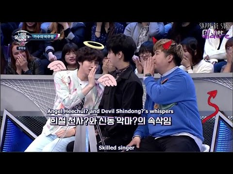 Yesung with Angel Heechul and Devil Shindong's whispers! (Eng/Esp)