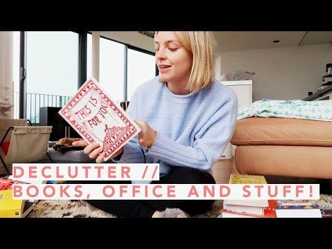 DECLUTTER // BOOKS, OFFICE AND STUFF! | Estée Lalonde