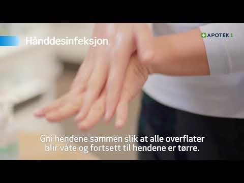 Riktig bruk av hånddesinfeksjon