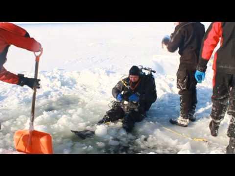 Hańcza 2011 LUTY Nurkowanie pod lodowe