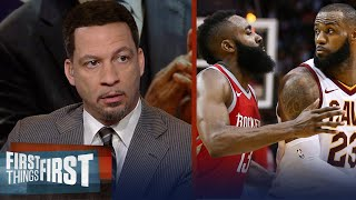 Chris Broussard on why James Harden may not want LeBron on the Rockets | NBA | FIRST THINGS FIRST