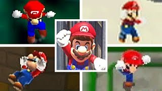Evolution Of Mario FALLING TO HIS DEATH in 3D Mario Games (1996-2017)