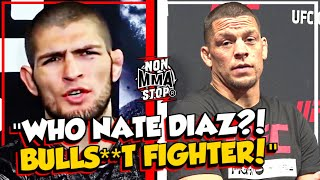 That Time: Khabib Nurmagomedov ROASTED Nate Diaz in Angry Rant about his UFC Career | MMA Moments