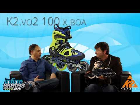 Inline Skates k2 Moto 100 2014 k2 Vo2 100 x Boa Inline