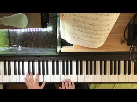 我が心のジョージア Georgia On My Mind  簡単なことしかせずに弾く アドリブなし(初心者)   ジャズソロピアノ  黒本の曲を弾く
