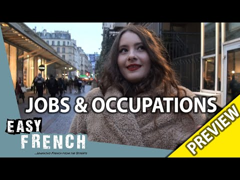 What's your occupation? (Trailer) | Easy French 95 photo
