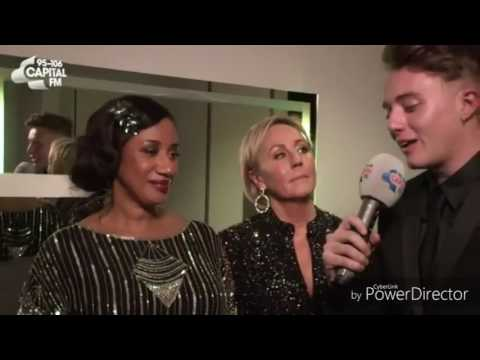 Roman Kemp, Andrew Ridgeley, Pepsi & Shirley after Brits 2017 Tribute to George Michael