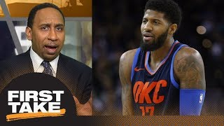 Stephen A. Smith reacts to Paul George 'whining' about referees   First Take   ESPN
