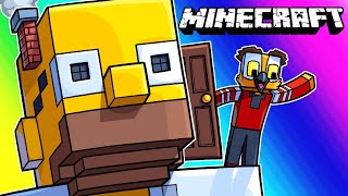 Minecraft Funny Moments - The Giant Exploding Homer Prank!