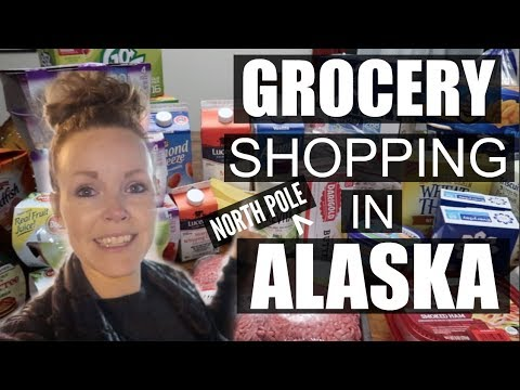 GROCERY SHOPPING IN NORTH POLE ALASKA   GROCERY SHOPPING IN ALASKA  Somers In Alaska Vlogs