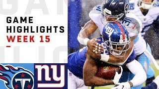 Titans vs. Giants Week 15 Highlights | NFL 2018