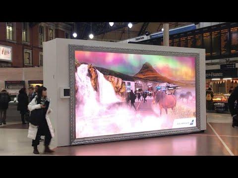 Icelandair augmented reality in London | Icelandair