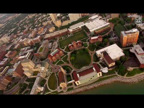 Aerial Views of Loyola University Chicago's Lake Shore Campus
