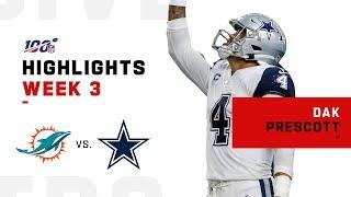 Dak Prescott Highlights vs. Dolphins   NFL 2019