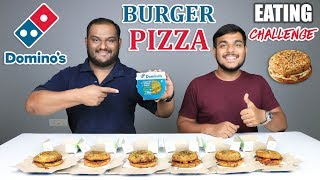 DOMINO'S BURGER PIZZA EATING CHALLENGE | Cheese Burger Pizza Eating Competition | Food Challenge