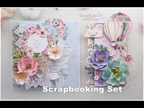 Card & Tag Scrapbooking Set Creating Process ♡ Maremi's Small Art ♡