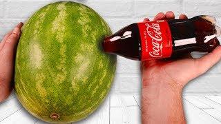 CRAZY Watermelon Coca Cola Tricks!