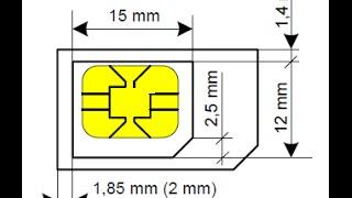 Como cortar um micro SIM e transforma-lo em nano SIM na raça.