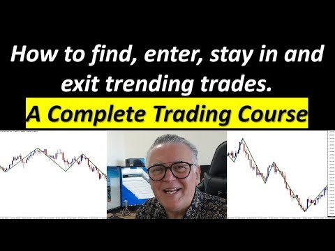A Complete Trading Course. Find entries, exits, place stops and Manage trend trades. Free downloads