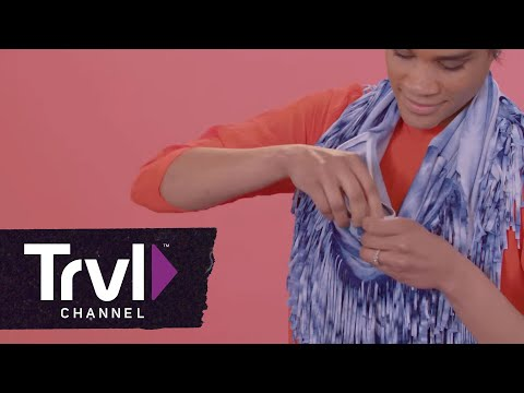 DIY No-Sew Scarf With a Hidden Pocket - Travel Channel