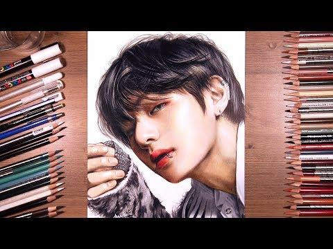 Drawing BTS: V (Taehyung) 뷔   drawholic