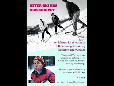 Thor Gotaas: Skienes betydning for Norge og nordmenn