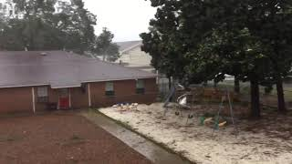 Hurricane Michael rips shingles off a roof in Panama City Beach