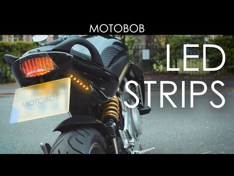 Extra Adhesive LED Motorcycle Indicator/Turn Signal Strips From eBay