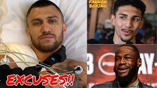 VASYL LOMACHENKO BLAMES TEOFIMO LOPEZ LOSS ON INJURED SHOULDER, WILDER TORCHED FOR SAYING MUCH LESS!